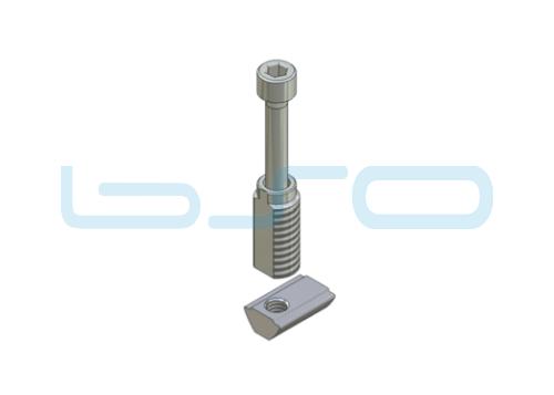 Combi-Einschraubverbinder Nut 5 potentialausgleichend Länge 14 mm