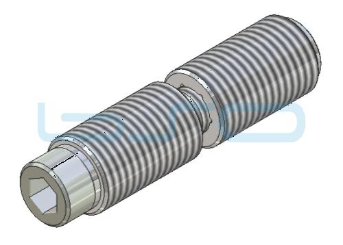 CEV-Verbinder Stoßverbinder 180° Nut 10 Raster 45 D=14mm