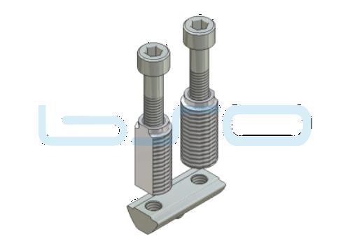 Combi-Einschraub Doppelverbinder Nut 8, Raster 30 Bosch kompatibel