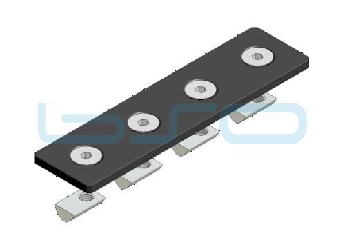 Verbindungslasche-Set Stahl Nut 8 40x160