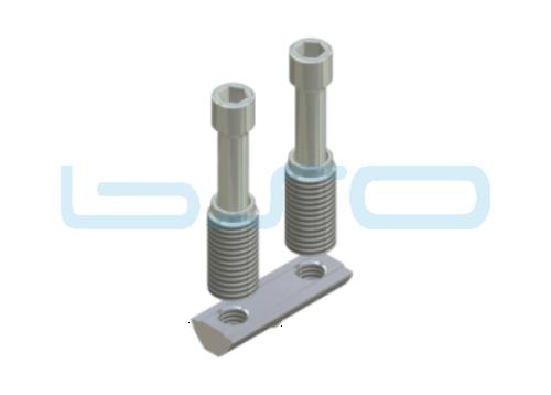 CEV-Verbinder Nut 8 doppelt Raster 40 Edelstahl Potentialausgleichend
