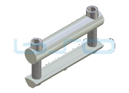 Profilverbinder Raster 80 L=80mm Gewinde M8 potentialausgleichend