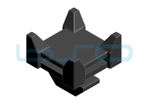 Kabelbinder-Sockel Kreuz mit Hammer PA schwarz