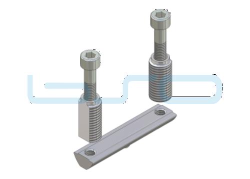CEV-Verbinder Nut 8 doppelt Raster 30 Nutenstein L=60mm potentialausgleichend