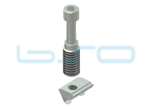 Combi-Einschraubverbinder Nut 10 Raster 45 D=12mm fuer Profil leicht 16x45