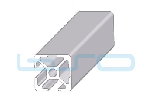 Alu-Profil Nut 8 30x30 2 Nuten 90° geschlossen