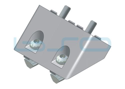 Winkelverbinder Set Nut 8 40x80Q alufarben