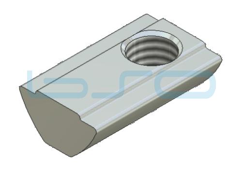 Sonder-Nutenstein Nut 8 Raster 40 u. 30 Gewinde M8 L=22mm mit Zentrierung