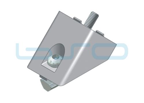 Winkelverbinder-Set Nut 8 40x40 alufarben