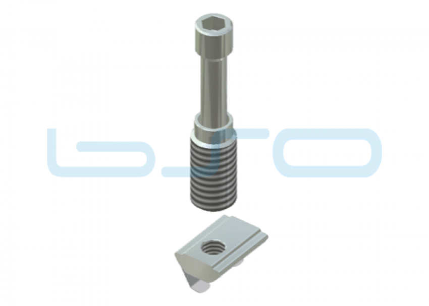 Combi-Einschraubverbinder Nut 10 Raster 45 D=12mm