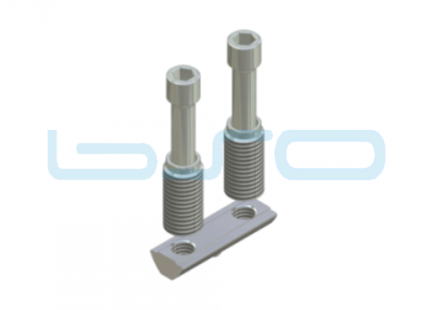 Combi-Einschraubverbinder Nut 8 Raster 40 doppelt